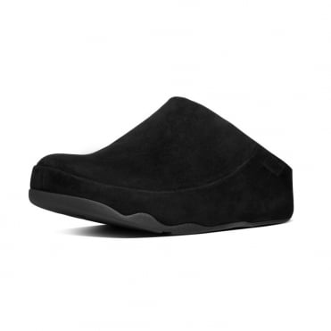 FitFlop Gogh™ Moc Women's Slip On Clogs in Black Suede
