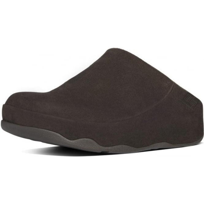 FitFlop Gogh™ Moc Women's Slip On Clogs in Dark Brown Suede