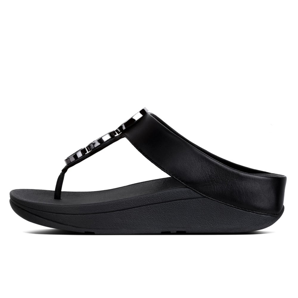 970afc9ad969 Halo™ Leather Toe-Post Sandals in Black