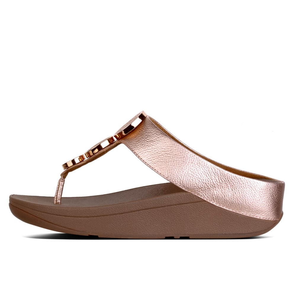 a378807fd2f8 Halo™ Leather Toe-Post Sandals in Rose Gold