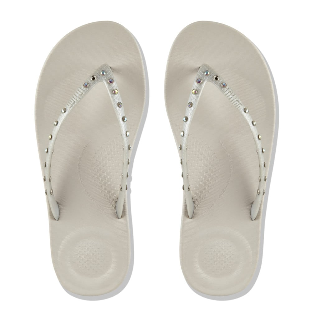 c4aa6be5c Iqushion™ Super-Ergonomic Flip Flops - Crystal in Silver