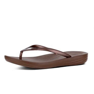 Iqushion™ Super-Ergonomic Flip Flops in Bronze