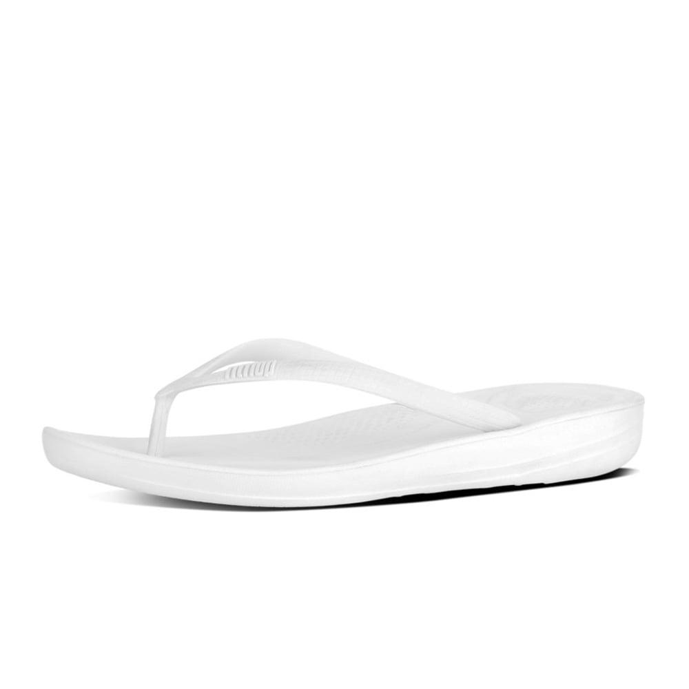 02d177b4ba51 Iqushion™ Super-Ergonomic Flip Flops in Urban White
