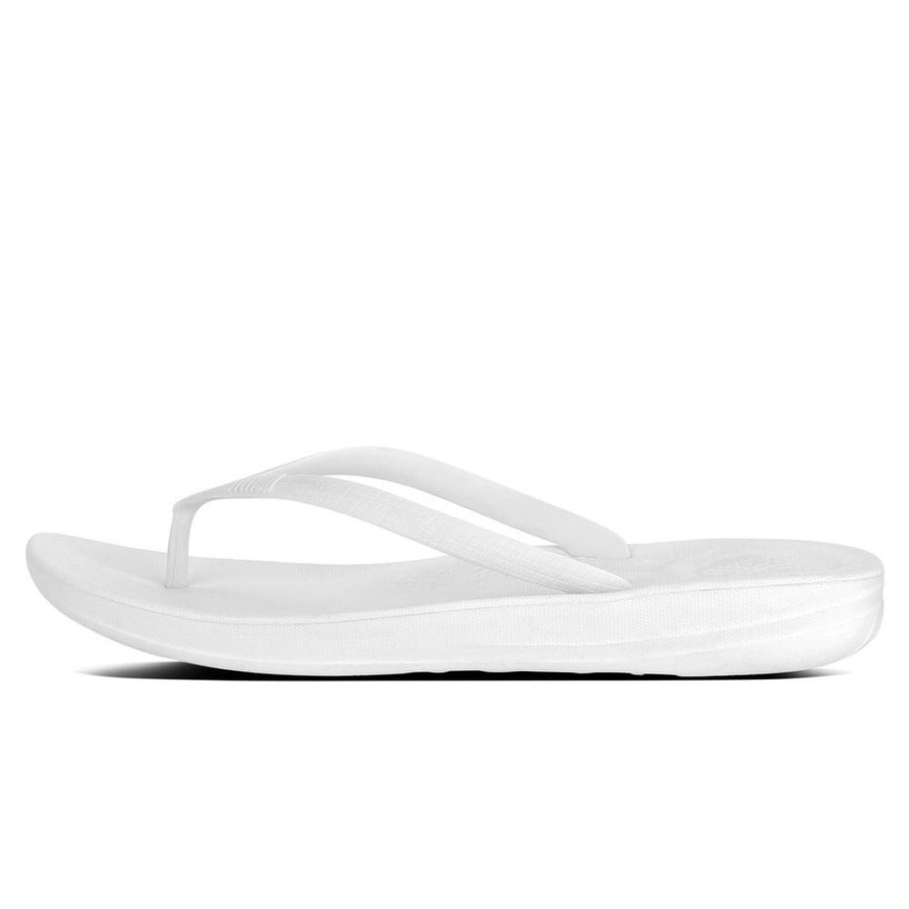 013dcf897facb Iqushion™ Super-Ergonomic Flip Flops in Urban White