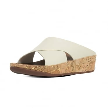 Kys™ Women's Leather Slide Sandals in Urban White