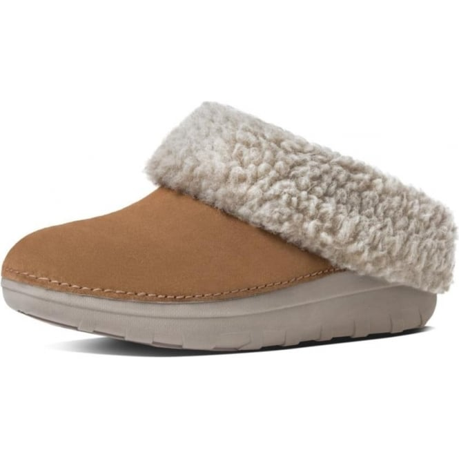 FitFlop Loaff™ Snug Suede Slippers In Chestnut