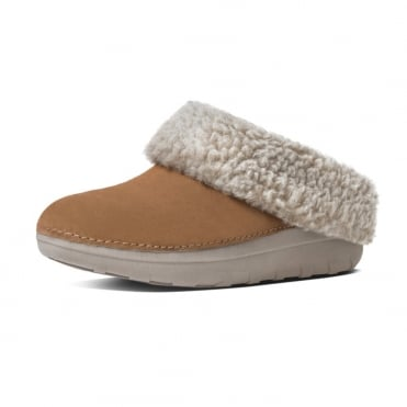 Loaff™ Snug Suede Slippers In Chestnut