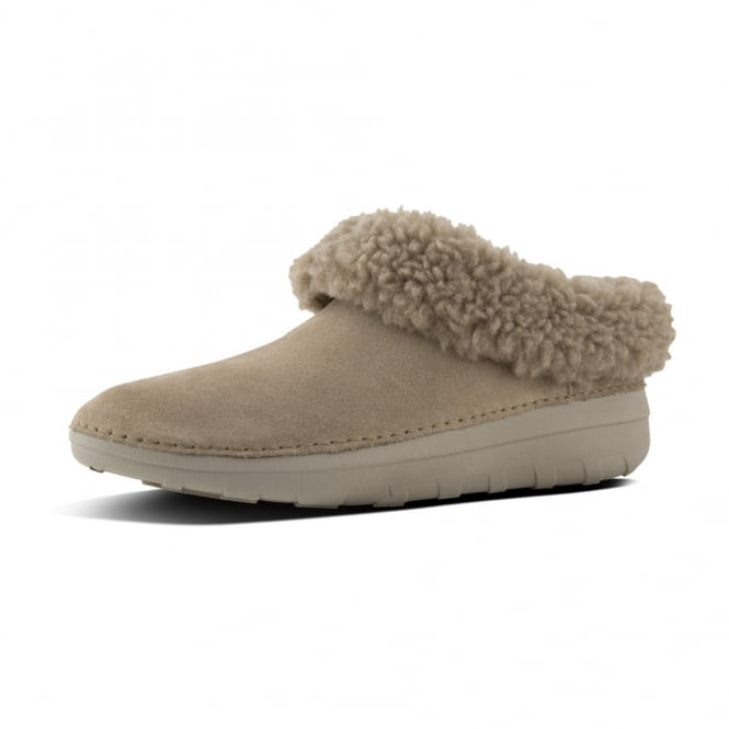 FitFlop Loaff™ Snug Suede Slippers In Desert Stone