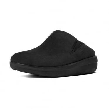 Loaff™ Suede Clogs in Black