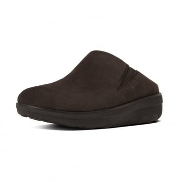 FitFlop Loaff™ Suede Clogs in Chocolate