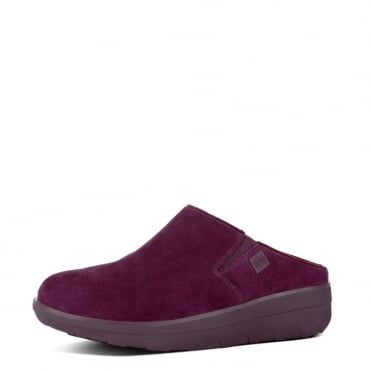 Loaff™ Suede Clogs in Plum