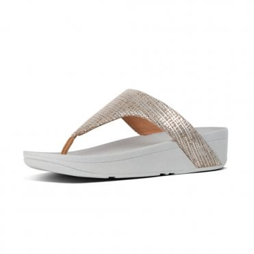 6ef19a5a8333 Lottie™ Chain Print Suede Toe-Post Sandals in Silver