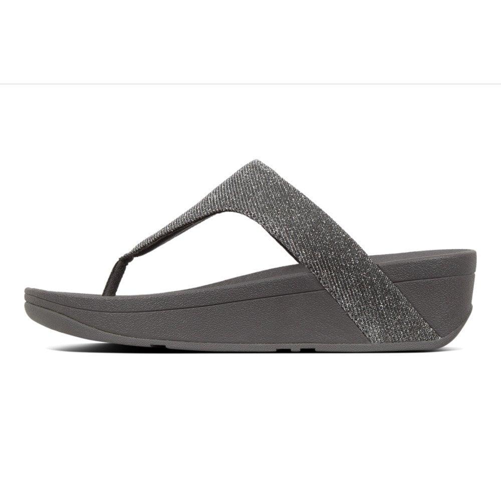 214674d0d530 Lottie™ Glitzy Toe-Post Sandals in Pewter