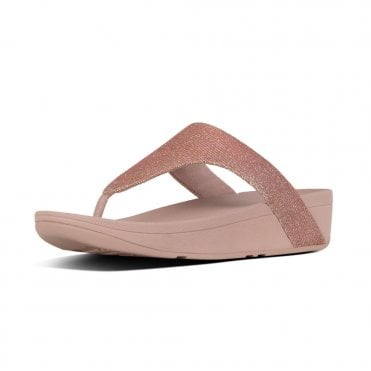 a3888591e69d Lottie™ Glitzy Toe-Post Sandals in Rose Gold