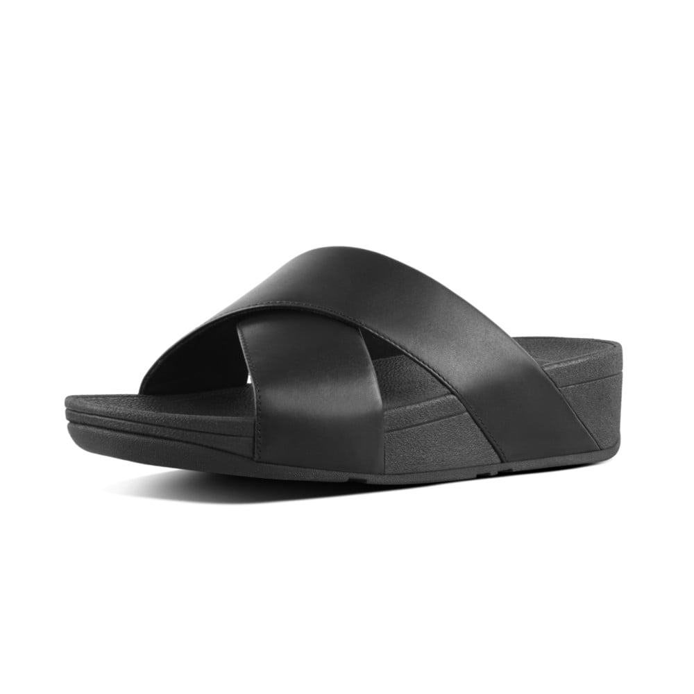 1f353b612 Lulu™ Cross Slide Sandals - Leather in Black