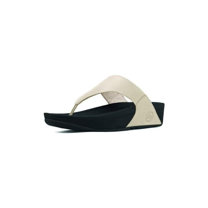 FitFlop Lulu™ Leather Flip Flops in Antique White