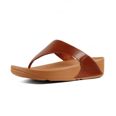 Lulu™ Leather Toe Post in Caramel