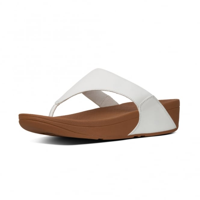 FitFlop Lulu™ Leather Toe Post in Urban White