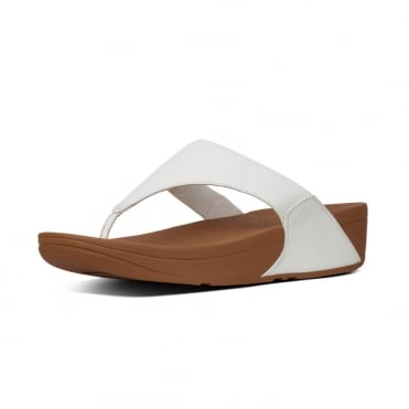 Lulu™ Leather Toe Post in Urban White