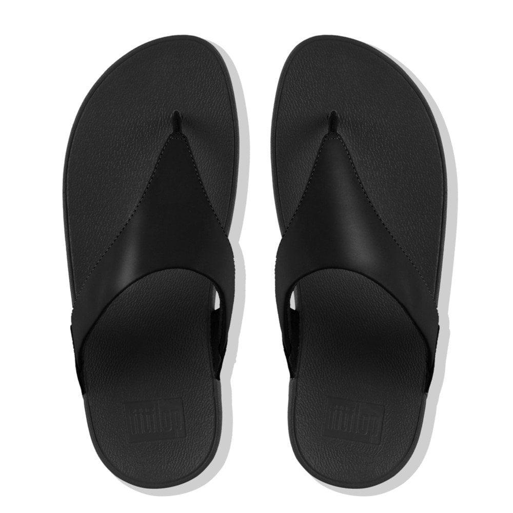 c99d161f7 Lulu™ Leather Toe Post Sandals in Black