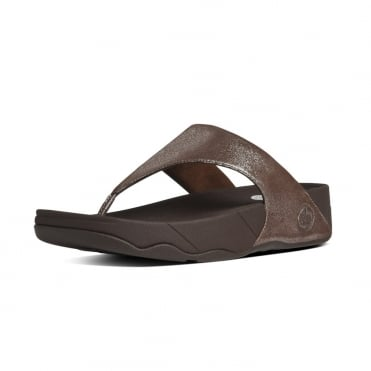 FitFlop Lulu™ Shimmersuede Toe Post Sandal in Bronze