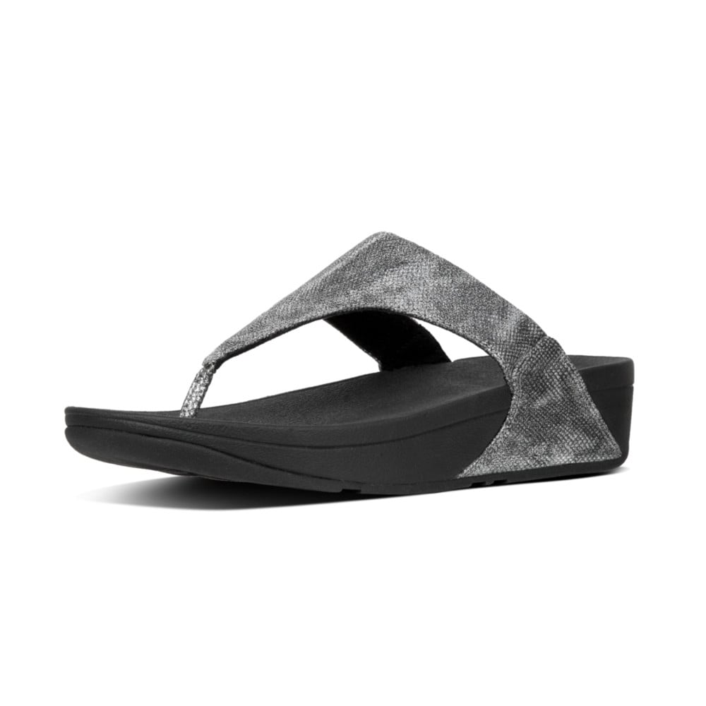 Women Lulu Toe Thong Sandals-Shimmer Print FitFlop Outlet Store For Sale 09ddmRA
