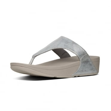 Lulu™ Toe-Thong Sandals - Shimmer Print in Silver
