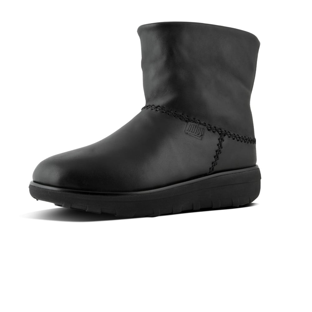 384ad3ad674 FitFlop™ Mukluk Shorty II Black Leather