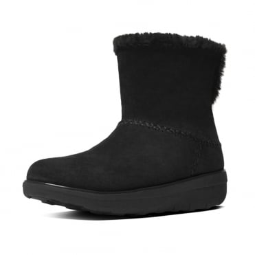 Mukluk Shorty II™ Pull On Shearling Suede Boots in Black