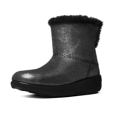 Mukluk Shorty II™ Pull On Shearling Suede Boots in Black Shimmer