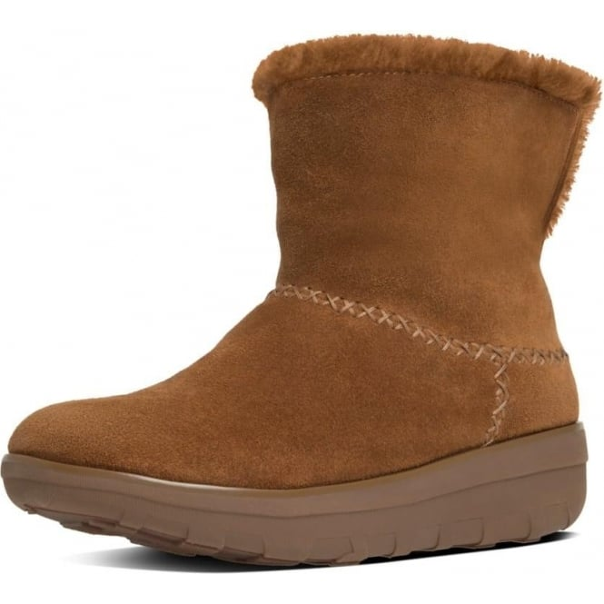 FitFlop Mukluk Shorty II™ Pull On Shearling Suede Boots in Chestnut