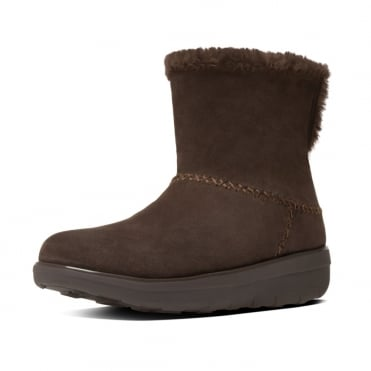 FitFlop Mukluk Shorty II™ Pull On Shearling Suede Boots in Chocolate