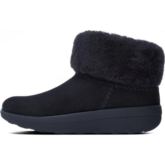 c1dbb4d20 FitFlop FitFlop Mukluk Shorty II™ Pull On Shearling Suede Boots in Supernavy