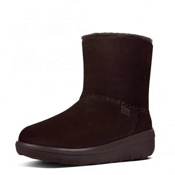 FitFlop Mukluk Shorty II™ Suede Boots in Chocolate