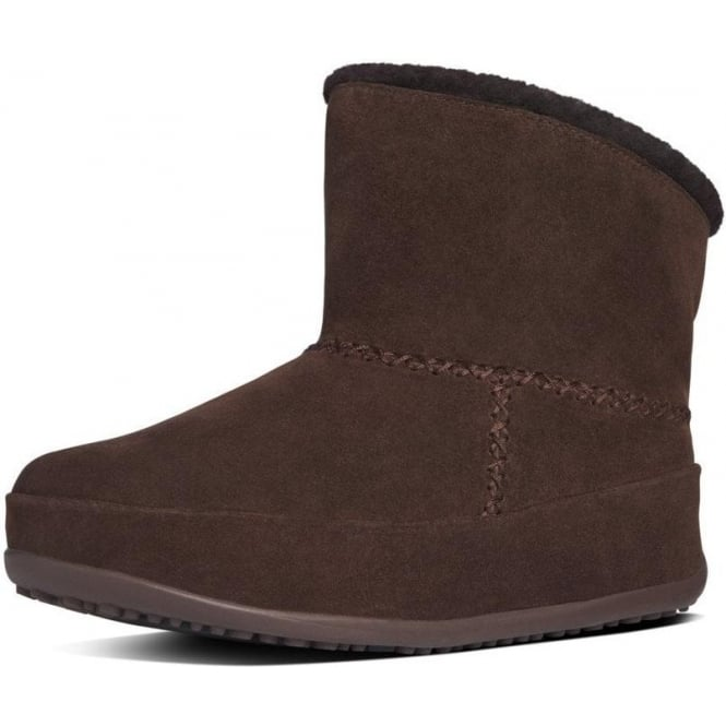 ed31559ceed9b Mukluk Shorty Pull On Shearling Boots in Dark Brown Suede