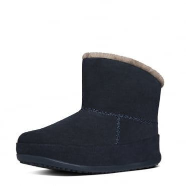 FitFlop Mukluk Shorty Pull On Shearling Boots in Supernavy Suede
