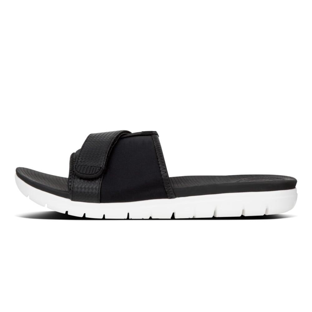 5bc91027024d4 Neoflex™ Slide Sandals in Black Mix