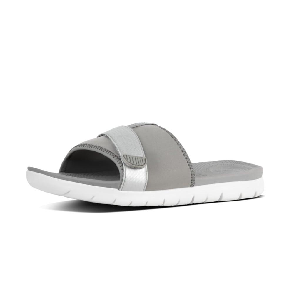 FitFlop Neoflex Slide - Soft Grey/Silver Comprar Barato Sneakernews Descuento auPaFK