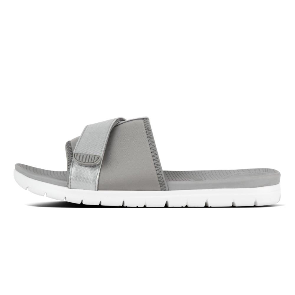 FitFlop Neoflex Slide - Soft Grey/Silver Venta Finishline Baúl Cómoda En Línea Barata Almacenar 587W2