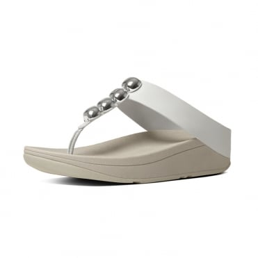 Rola™ Leather Toe Post Sandals in Urban White