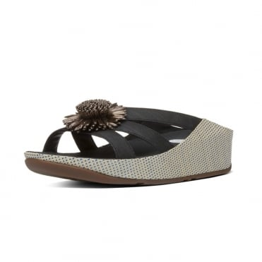 FitFlop Rosita™ Slide Sandals in Black IMI-Leather