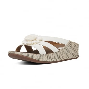 FitFlop Rosita™ Slide Sandals in Urban White IMI-Leather
