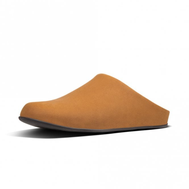 FitFlop Shove™ Mule Leather Men's Slippers in Dark Tan
