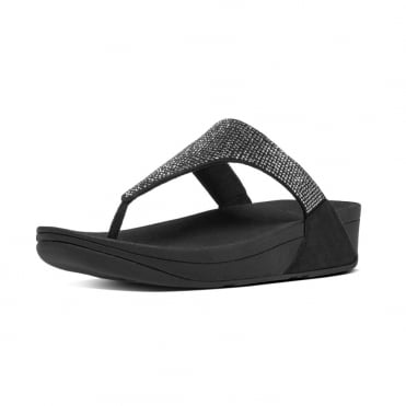 Slinky™ Rokkit Toe-Post Sandals in Black