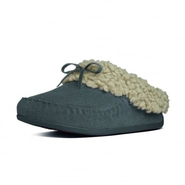 FitFlop Slippers The Cuddler Snugmoc In Charcoal Grey Suede