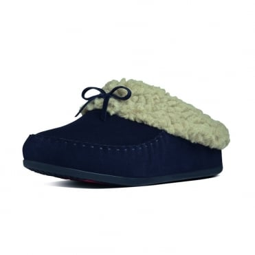 FitFlop Slippers The Cuddler Snugmoc In Supernavy Suede