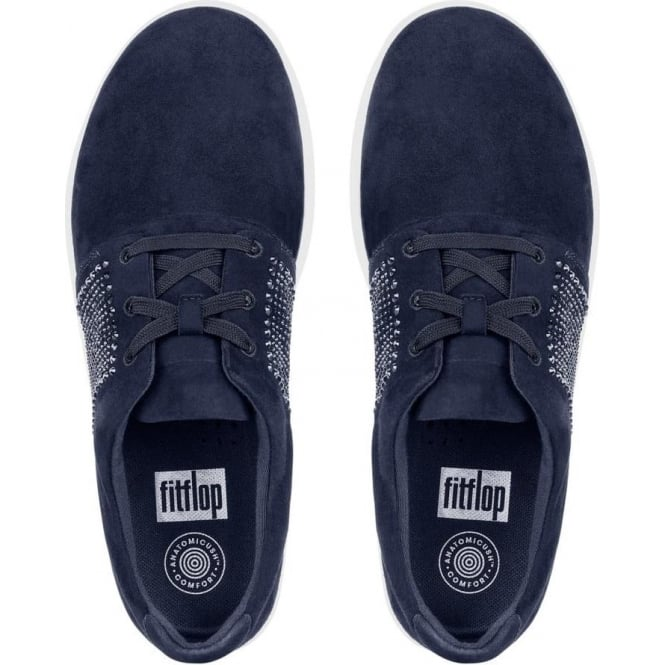 b2950f4fda1 Sporty-Pop™ X Crystal Suede Sneakers in Midnight Navy