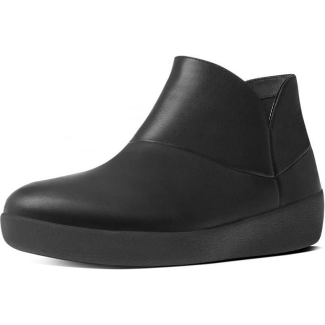FitFlop Supermod™ Soft Leather Ankle Boots in Black