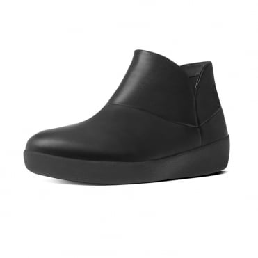Supermod™ Soft Leather Ankle Boots in Black
