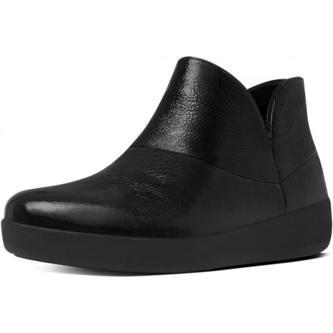 FitFlop Supermod™ Soft Patent Ankle Boots in Black